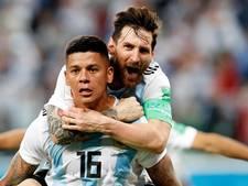 Rojo en Messi schieten ploeterend Argentinië naar achtste finale